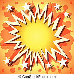 Explosion Background - A Vector Comic Book Explosion ...
