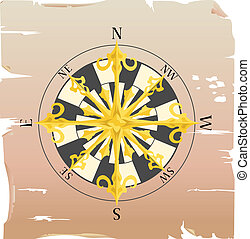 compass - a vector compass on a piece of paper