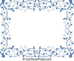 A vector floral framework from frozen decorative tree branches
