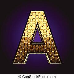 a vector golden letter