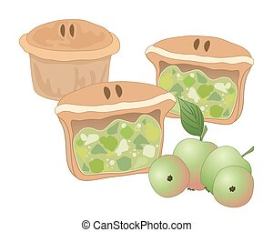 apple pie - a vector illustration in eps 10 format of home...