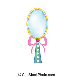 beauty mirror - a vector illustration of a beauty mirror...