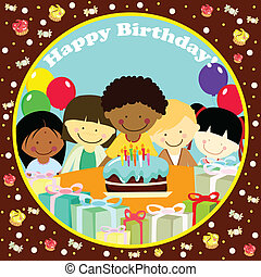 A vector illustration of a birthday card