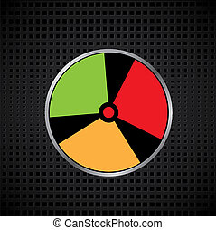 A vector illustration of a radiation warning signe. your for text.