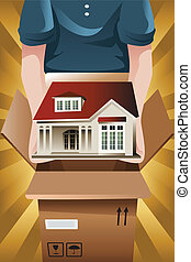 Advertising for moving company - A vector illustration of ...