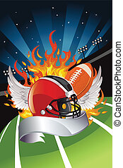 American football - A vector illustration of American...