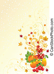 Autumn or Fall season background - A vector illustration of...