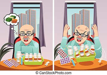 Elderly Man Angry at The Cost of His Prescription Drugs