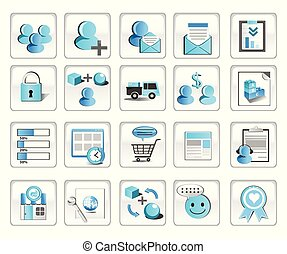 Business Technology Internet Website Icons