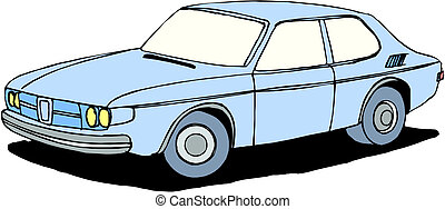 A Vector illustration of car