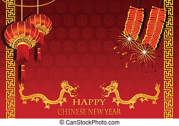 Chinese New Year - A vector illustration of Chinese New Year...