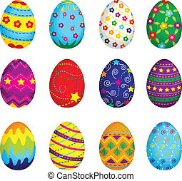 Easter eggs - A vector illustration of colorful Easter eggs