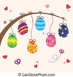 Easter eggs - A vector illustration of Easter eggs design