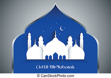 Eid-Al-fitr greeting card - A vector illustration of Eid-Al-...