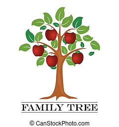 A vector illustration of Family Tree Template.