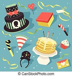 Happy Birthday Icon Clipart Design Element