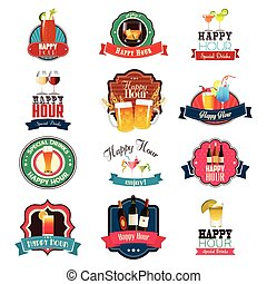 Happy Hour Design - A vector illustration of Happy Hour...
