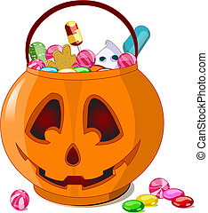 Halloween treats - A vector illustration of Jack O\' Lantern...