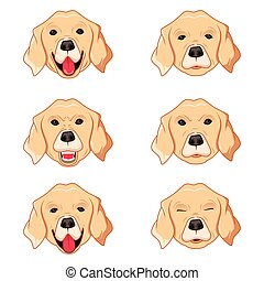 Labrador Retriever Emoticons