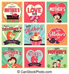 Mother's day cards - A vector illustration of Mother's day...