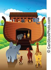 Noahs ark - A vector illustration of Noahs ark