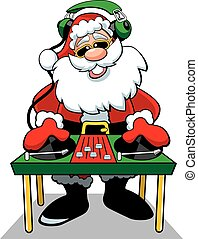 A vector illustration of Santa Claus
