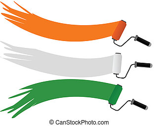 A vector illustration of three rolar having Indian National Flag color with copy space on isolated background for Independence and Republic Day.