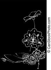 vector image beautiful abstract floral backgroun