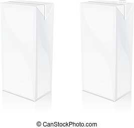 packaging - A vector of 2 different packaging blank bottles