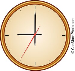 A vector of a watch with a gold frame