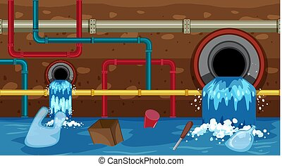 A Vector of Sewer Waste  illustration