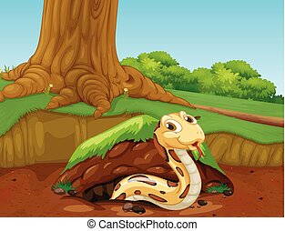 A Vector of Snake in the Nature