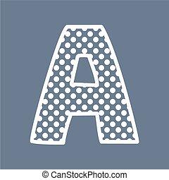 A vector polka dots alphabet letter