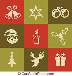 A Vector Silhouette of Christmas