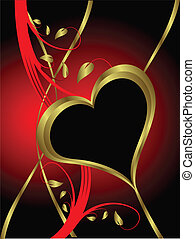 A vector valentines background with a large central heart with room for text