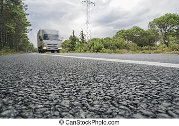 A vehicle on road