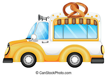 A vehicle selling bread