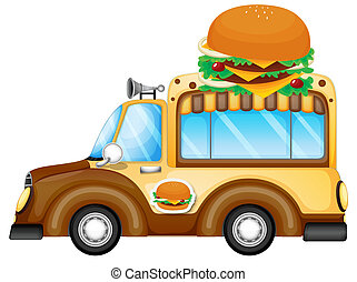 A vehicle selling burgers