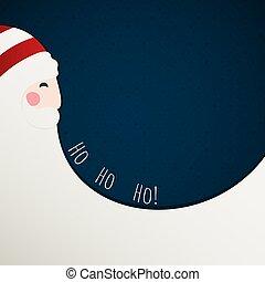 a, vermelho, cartão natal, com, papai noel