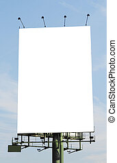 Blank vertical billboard near a highway  background for mock-up