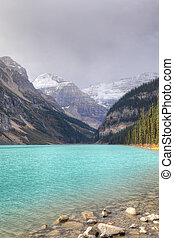 Vertical of Lake Louise in Banff National Park, Canada