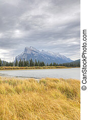 Vertical of Mount Rundle near Banff, Canada - A Vertical of...