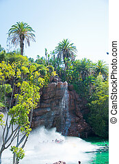 waterfall in Zoo of Los Angeles