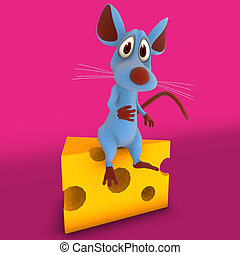 A very cute cartoon mouse made out of plushImage contains a Clipping Path / Cutting Path for the main object