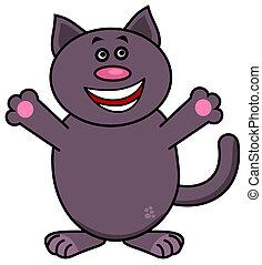 a very happy cat