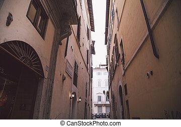 A very narrow street in Rome