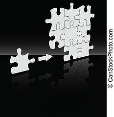 a, vetorial, absract, quebra-cabeça, fundo