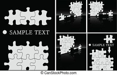 a, vetorial, abstratos, quebra-cabeça, fundo, jogo