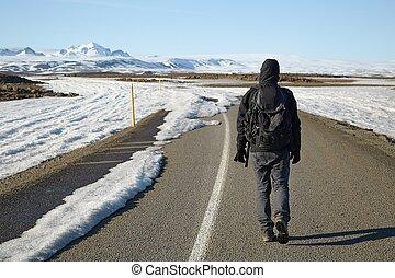 a, viagem, começa, onde, a, estrada, extremidades