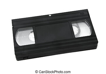 a videotape isolated on a white background